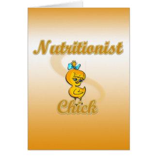 Polluelo del nutricionista tarjeta