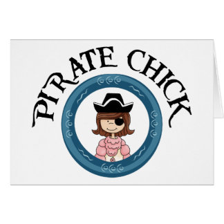 Polluelo del pirata felicitación