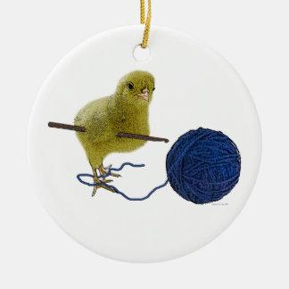 Polluelo que crochets el ornamento ornamentos de reyes