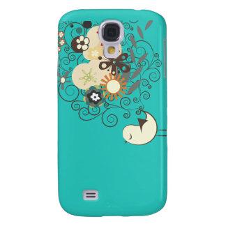 ¡Polluelo retro de PixDezines, color de fondo de Funda Samsung S4