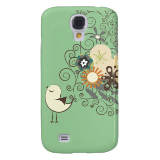 ¡Polluelo retro de PixDezines, color de fondo de Samsung Galaxy S4 Cover