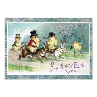 Polluelos del bebé en una caza inglesa en Pascua Invitación 8,9 X 12,7 Cm