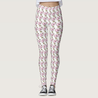 Polluelos rosados bonitos leggings