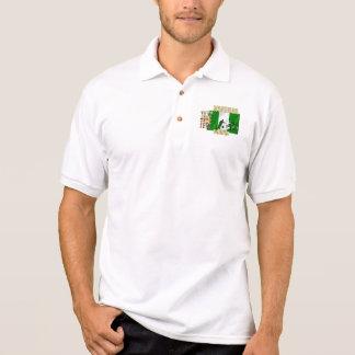 Polo Bandera nigeriana del hearrt de Naija del corazón