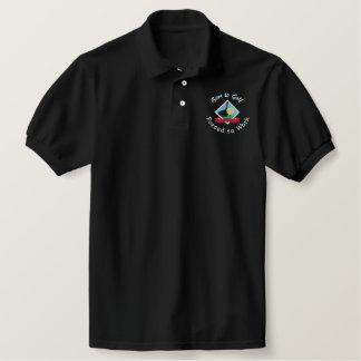Polo Bordado Llevado Golf, forzado trabajar el logotipo Golfing