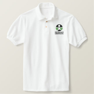 Polo bordado logotipo de la quiropráctica