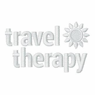 Polo bordado personalizado de la terapia del viaje