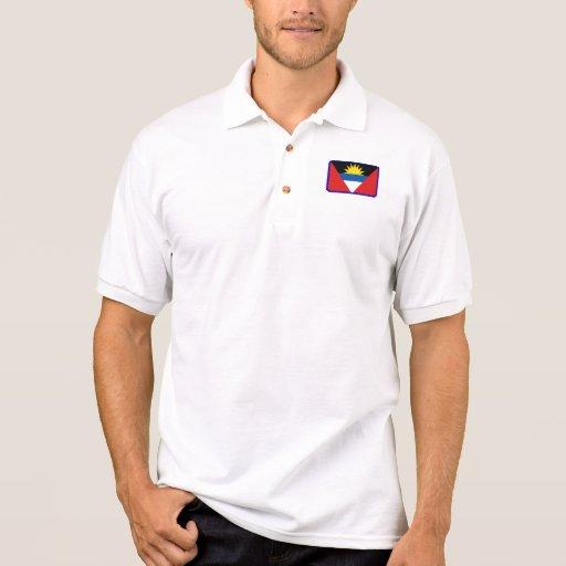 Polo del golf de la bandera de Antigua y de Barbud