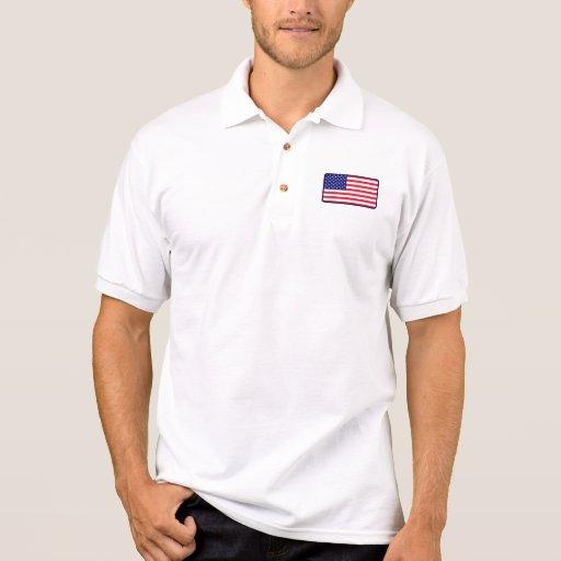 Polo del golf de la bandera de los E.E.U.U.