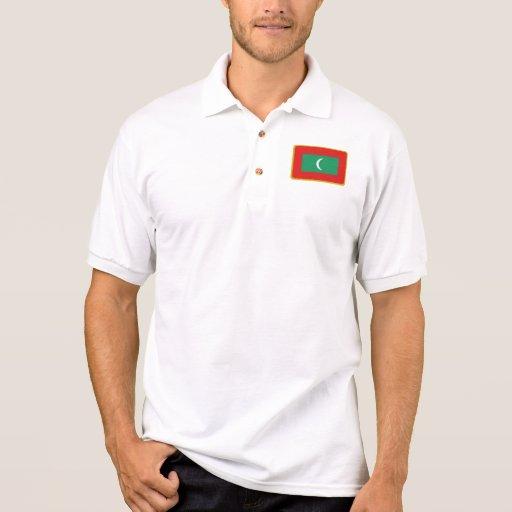 Polo del golf de la bandera de Maldivas
