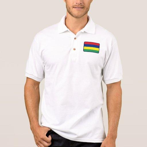 Polo del golf de la bandera de Mauricio