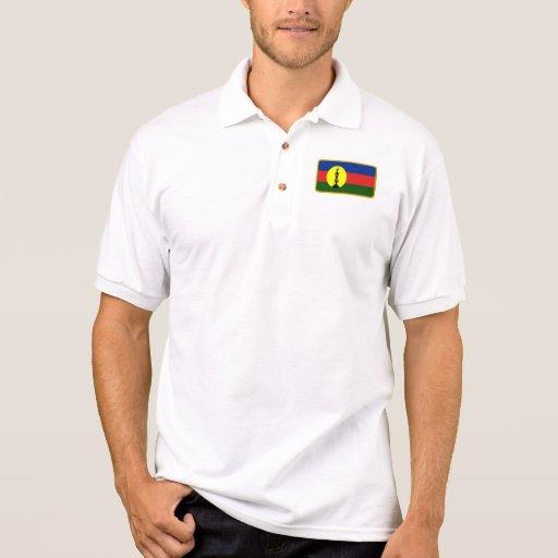 Polo del golf de la bandera de Nueva Caledonia Kan