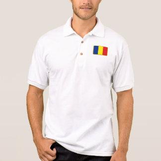 Polo del golf de la bandera de Rumania