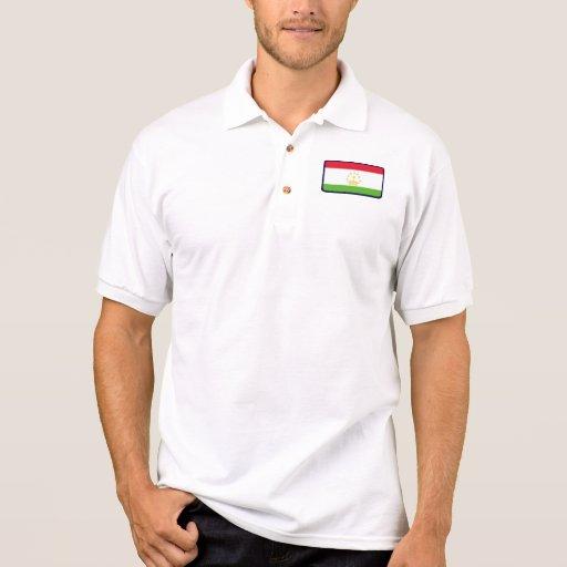 Polo del golf de la bandera de Tayikistán