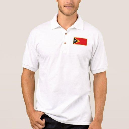 Polo del golf de la bandera de Timor Oriental