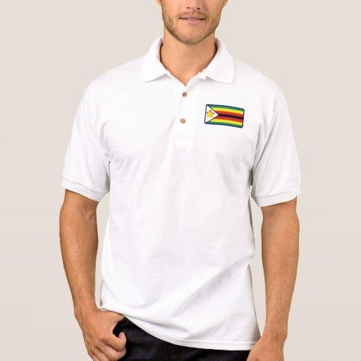 Polo del golf de la bandera de Zimbabwe