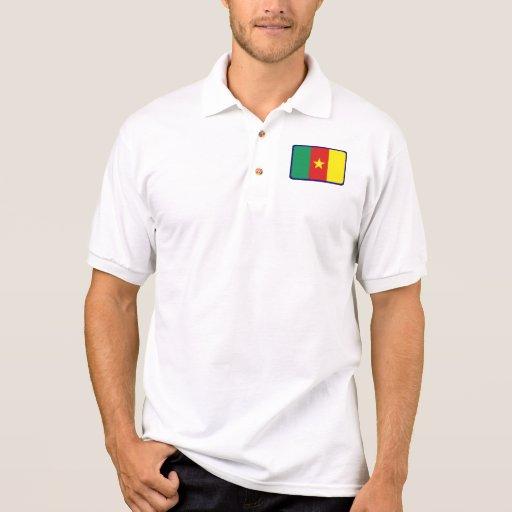 Polo del golf de la bandera del Camerún