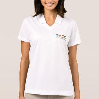 Polo del logotipo del TACO del piqué del