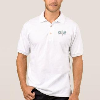 Polo El logotipo del golf con la bandera se divierte