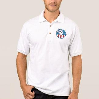 Polo Golfista americano que juega al golf retro