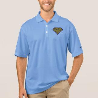 Polo Logotipo del super héroe de los búhos GSA azul y