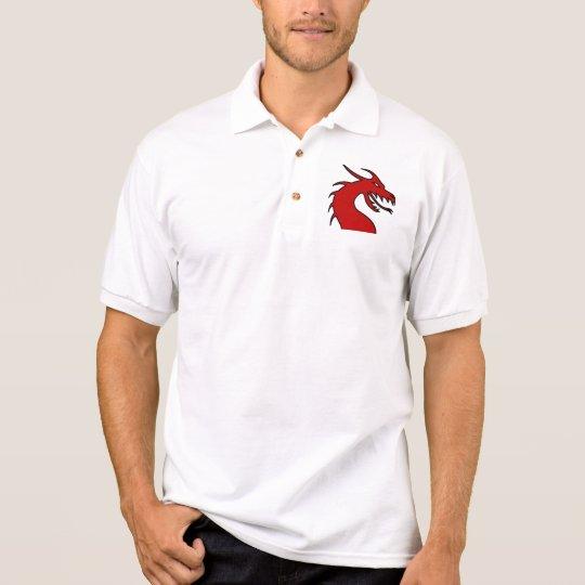 Polo Silueta roja del dragón