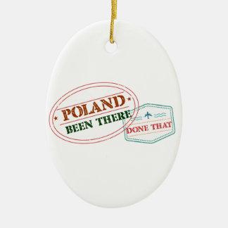 Polonia allí hecho eso adorno navideño ovalado de cerámica