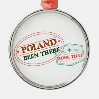 Polonia allí hecho eso adorno navideño redondo de metal
