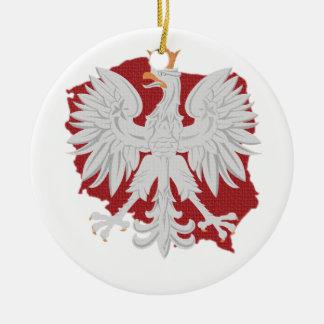 Polonia Eagle Adorno Navideño Redondo De Cerámica