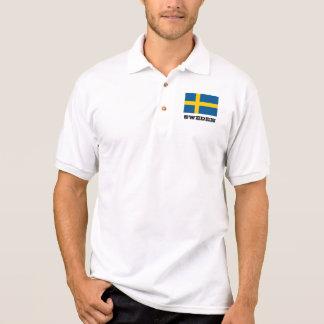 Polos de encargo de la bandera sueca para los