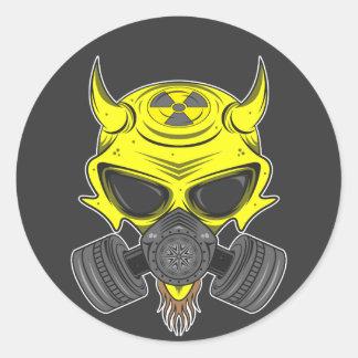 Polvillo radiactivo Hellion Pegatina Redonda
