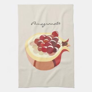 Pomegranate fruit illustration paño de cocina