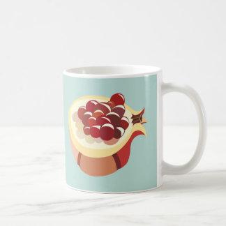 Pomegranate fruit illustration taza de café