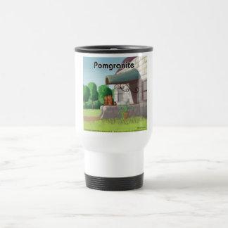 Pomeranian en el granito (granada) divertido taza de viaje