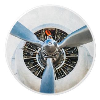 Pomo De Cerámica Aviones de Douglas DC-3. Propulsor