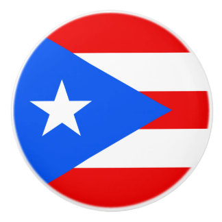 Pomo De Cerámica Bandera del botón de Puerto Rico