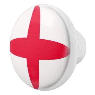 Pomo De Cerámica Bandera del inglés de Inglaterra