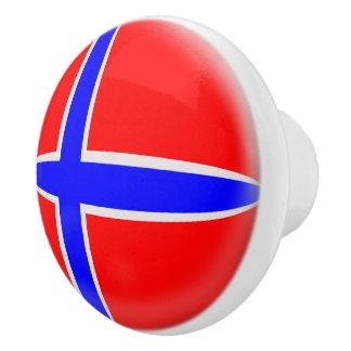 Pomo De Cerámica Bandera del noruego de Noruega