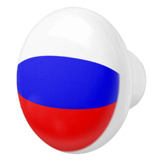Pomo De Cerámica Bandera del ruso de Rusia