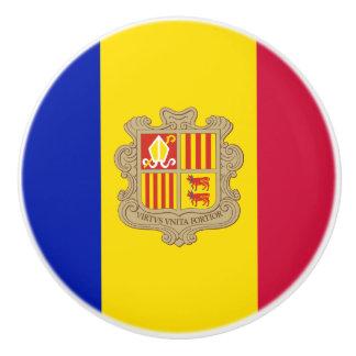Pomo De Cerámica Bandera patriótica de Andorra