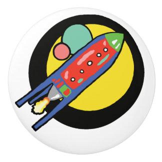 Pomo De Cerámica Botón de cerámica de encargo de la nave de Rocket