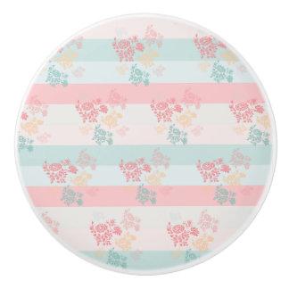 Pomo De Cerámica Botón de cerámica del flor