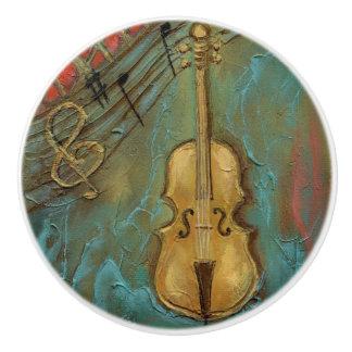 """Pomo De Cerámica """"Botón de cerámica del violoncelo de Mello"""""""