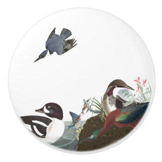 Pomo De Cerámica Botón del animal de la fauna de los pájaros del