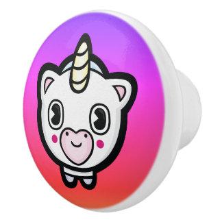 Pomo De Cerámica Botones de cerámica femeninos de Emoji Ombre del