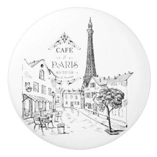 Pomo De Cerámica Café París