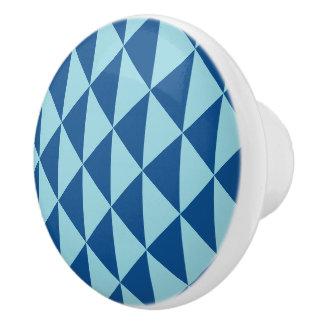 Pomo De Cerámica Flechas geométricas del azul del paraíso de la