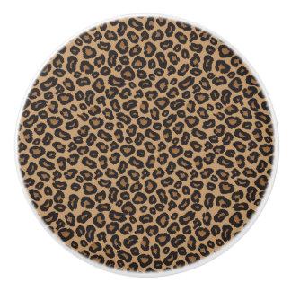 Pomo De Cerámica Leopardo Brown y modelo negro