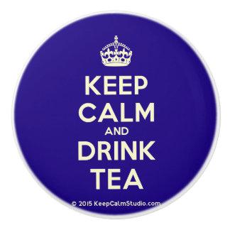 Pomo De Cerámica Mantenga té tranquilo y de la bebida