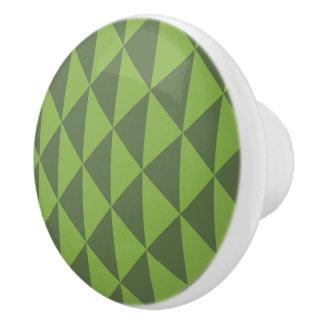 Pomo De Cerámica Modelo verde de la flecha del verdor de la col